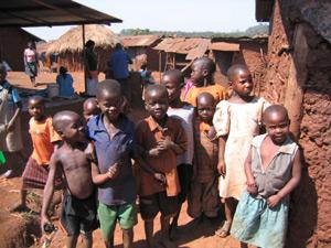 Children in Masese slums