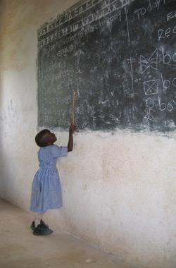 Girl at Blackboard