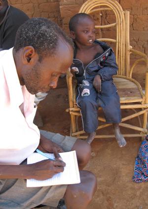 Nguli taking notes