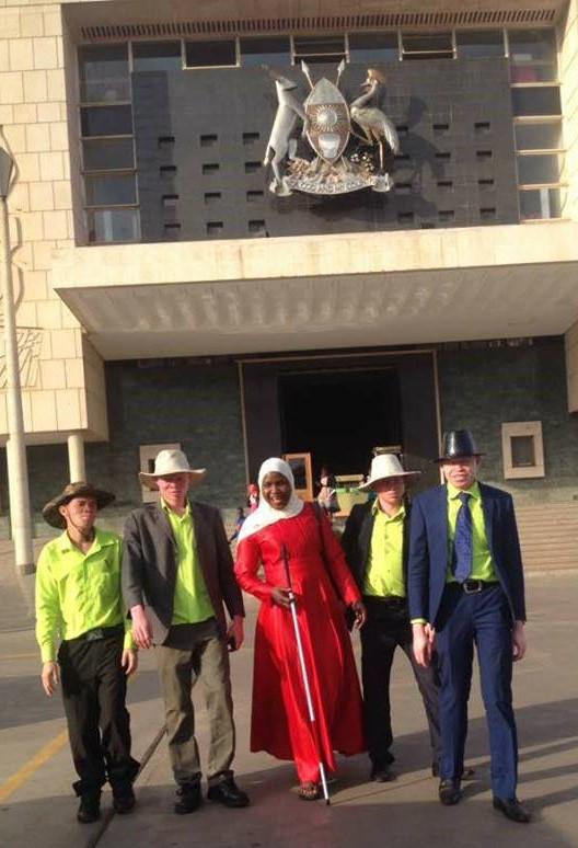 The SNUPA team visit the Ugandan Parliament