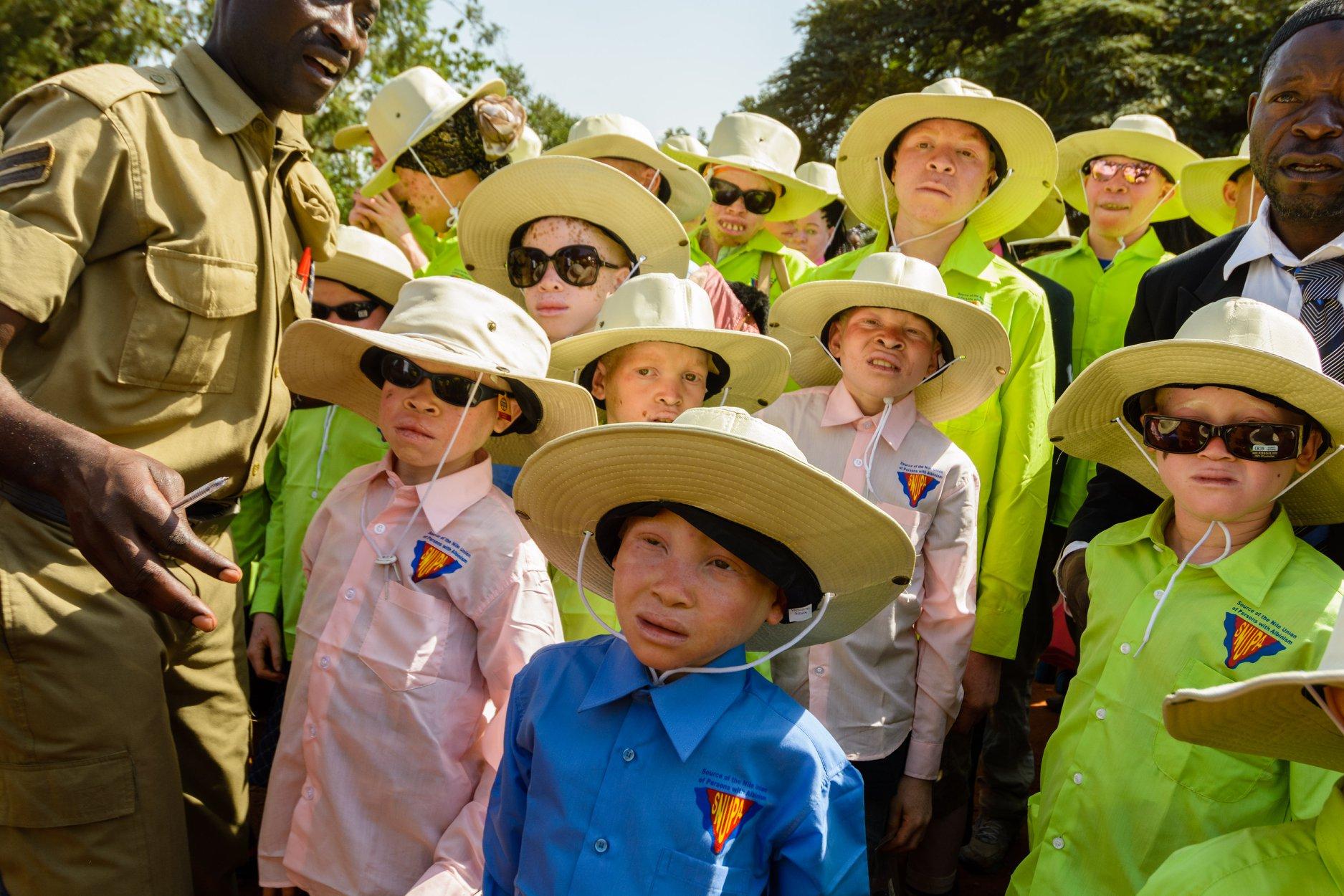 Children prepare for SNUPA's IAAD march